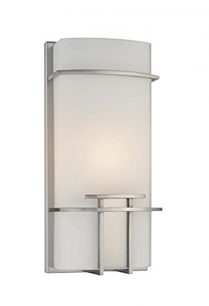 George Kovacs P465-084, ADA 1-Light Wall Sconce, Brushed Nickel