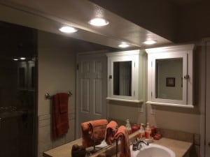 LED BR40 flood in bathroom