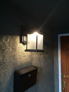 LED porch light fixture