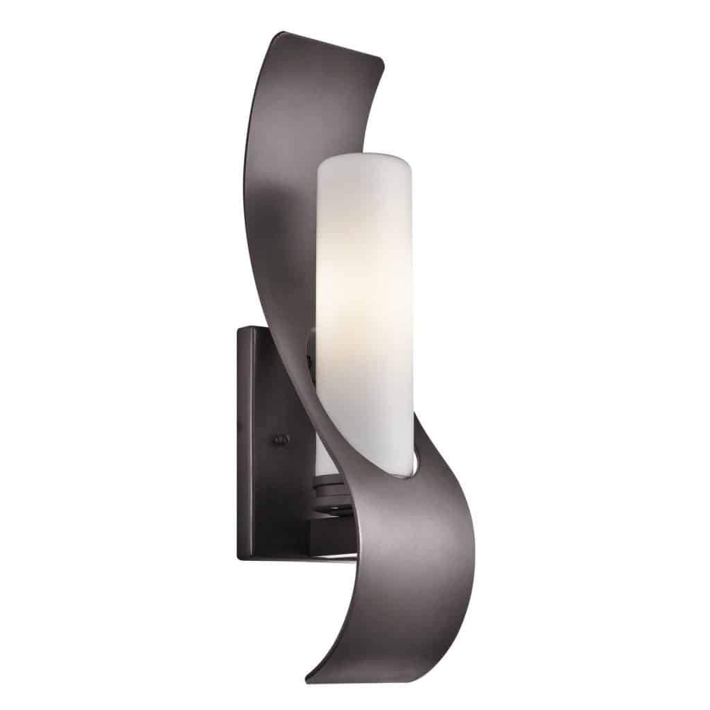 Kichler Lighting 49149AZ Zolder 1-Light 17-Inch Outdoor Wall Mount