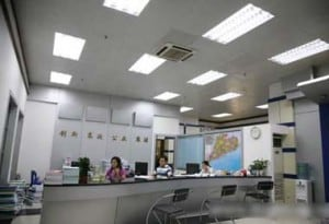 LED tubes in office