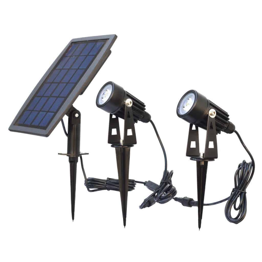 PRODELI Solar Lights Solar Powered Spotlight path Lights