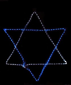 led hanukkah star