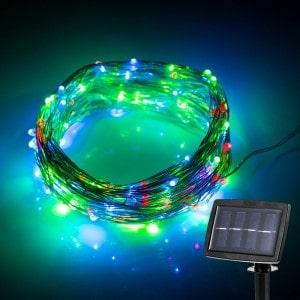 solar colored led string lights
