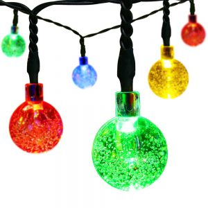 solar christmas string lights
