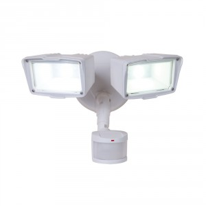 all pro outdoor security fixture 2-head led