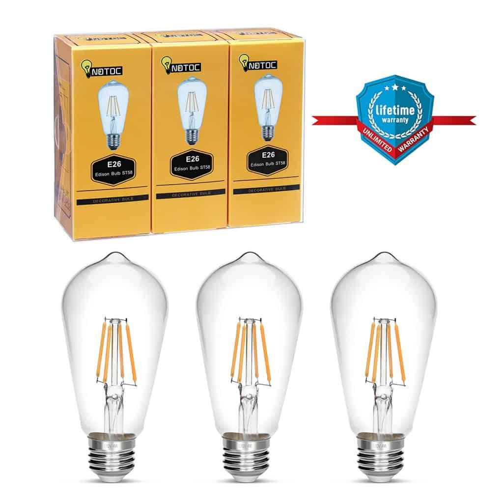 Edison bulb, NOTOC retro style LED light bulb 4W