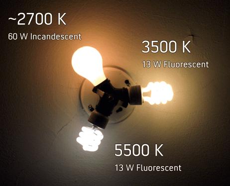 light temperatures