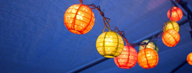 colored paper string lights