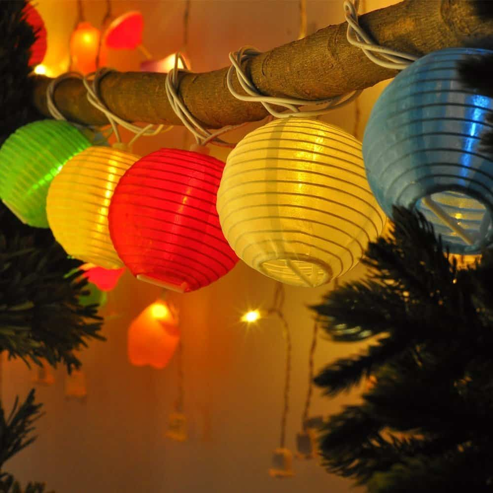 LED colored paper string lights