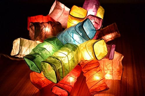 LED rectangular paper string lights