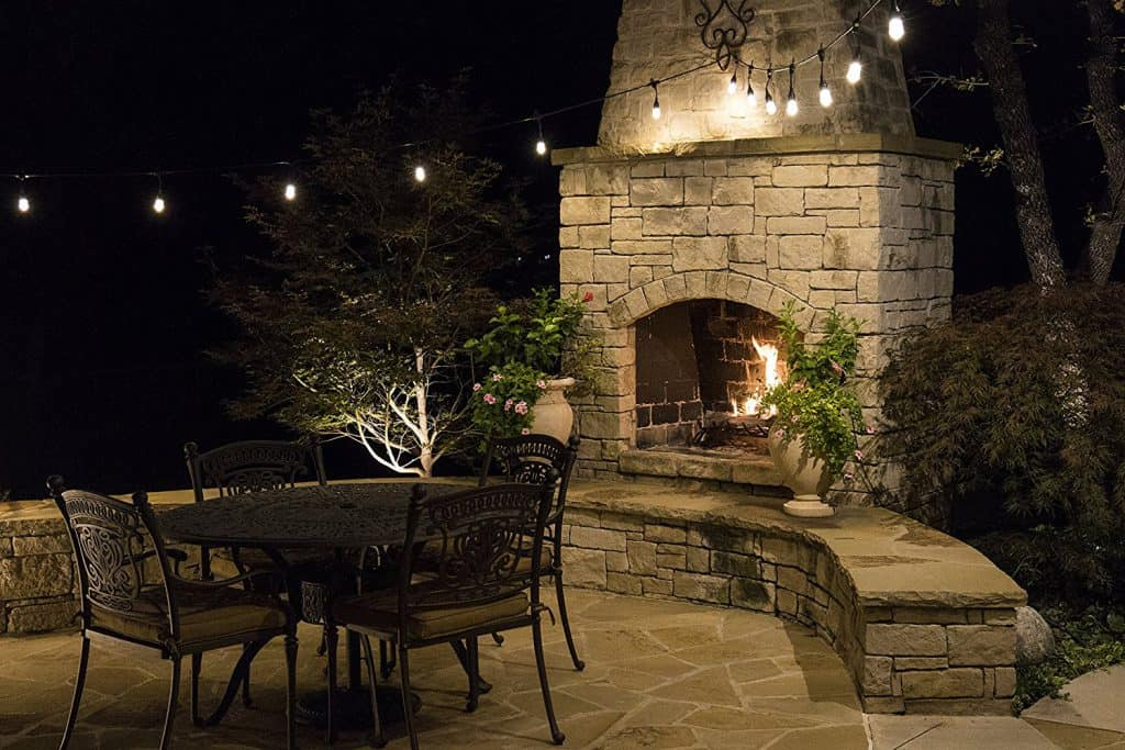 led string lights on patio