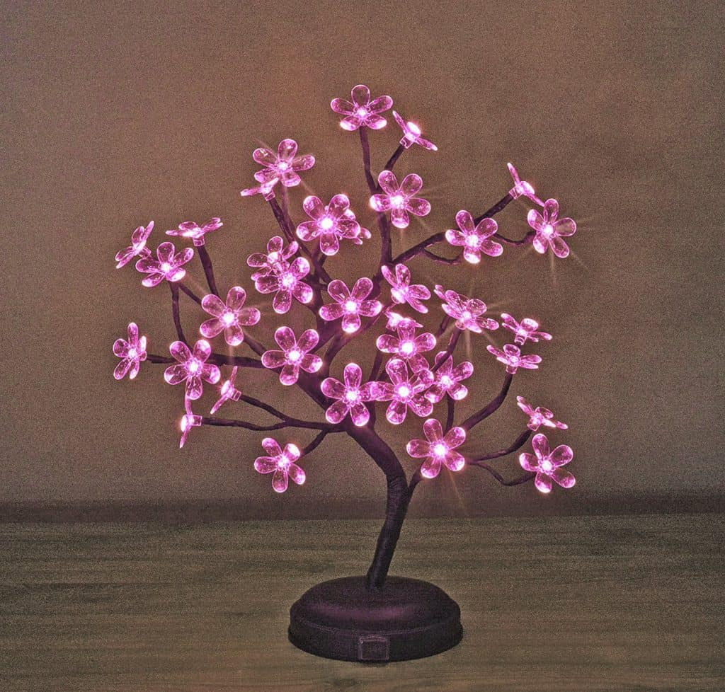 pink led bonsai tree