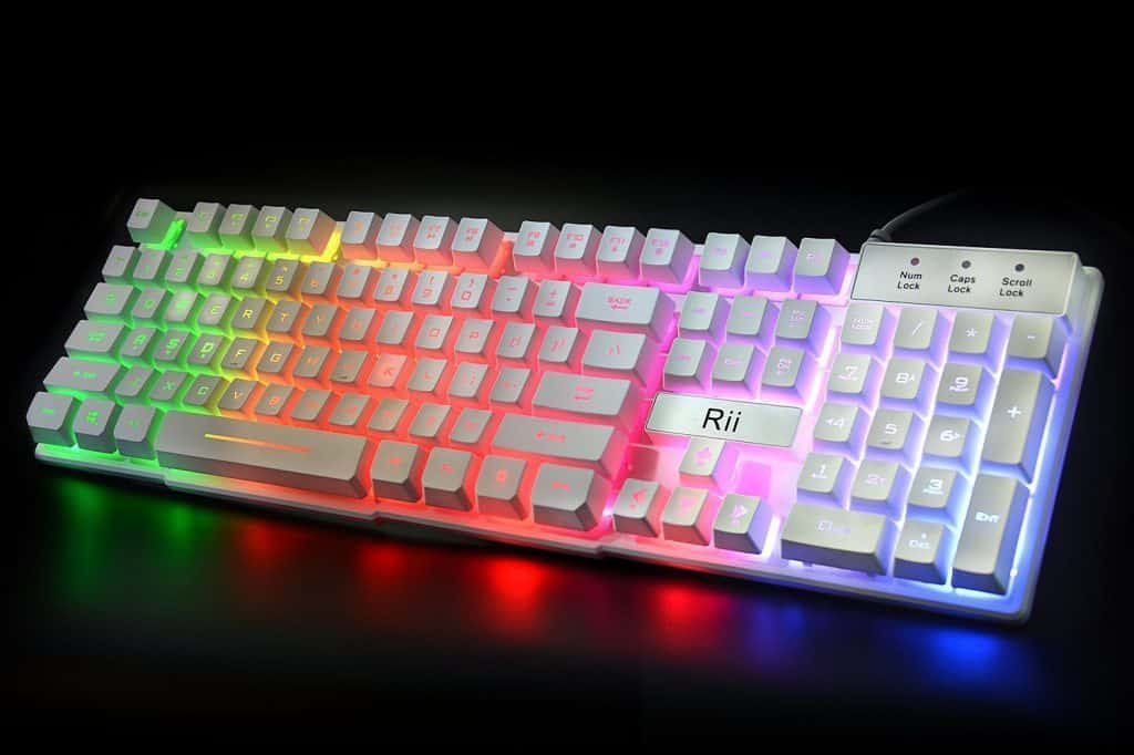 rainbow led lit keyboard