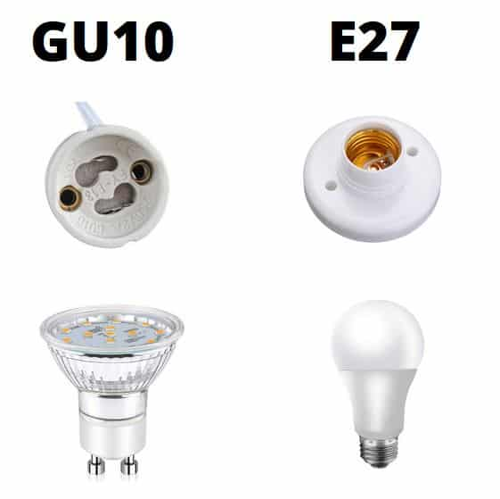 gu10 and e27 comparison chart