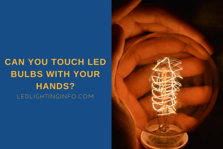can you touch led bulbs with your hands