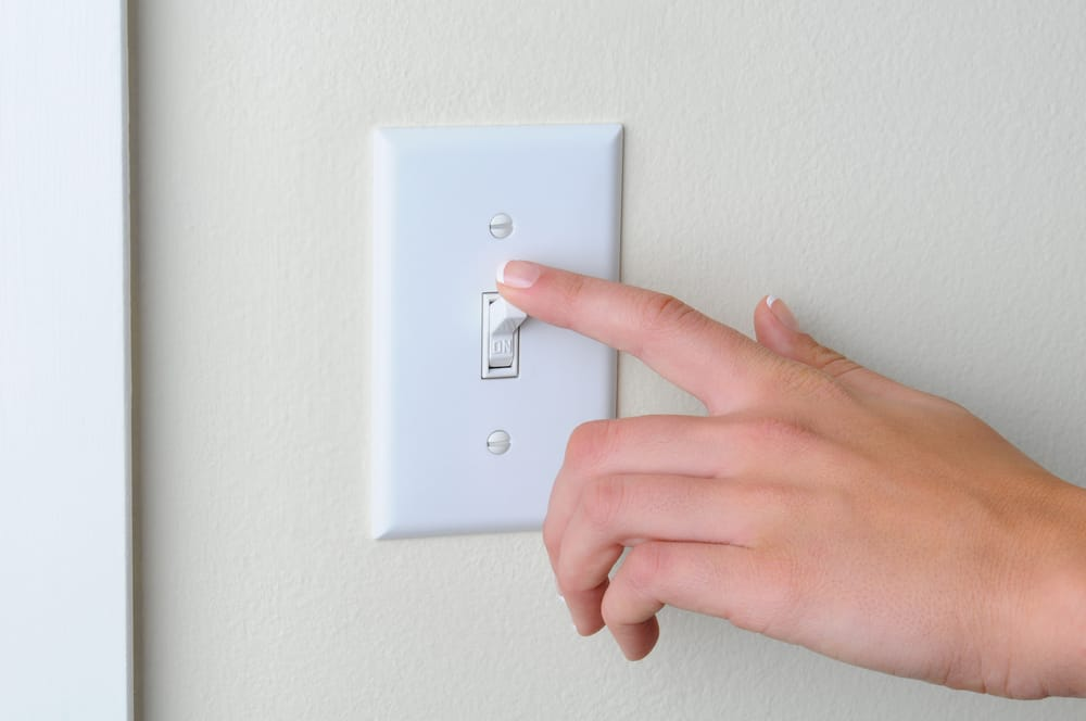 light switch turning on