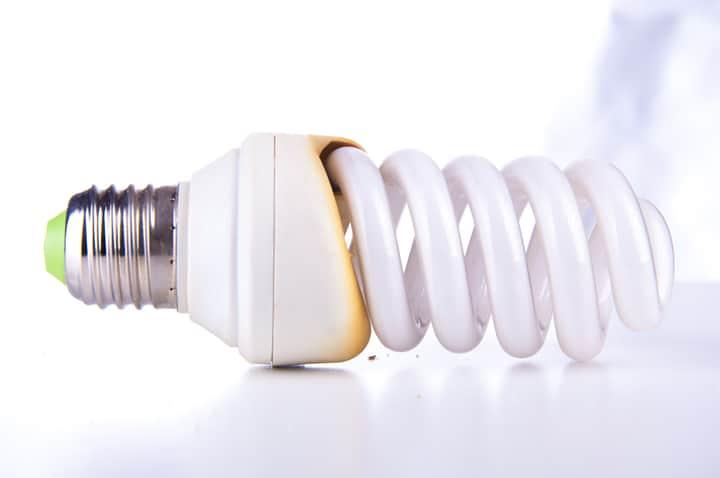 burned CFL bulbs