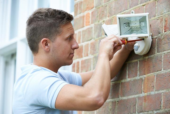 installing security light