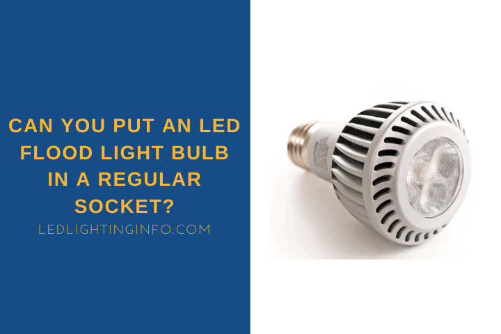 Can You Put An LED Flood Light Bulb In A Regular Socket?