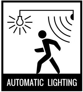 automatic lighting triggered by motion sensor