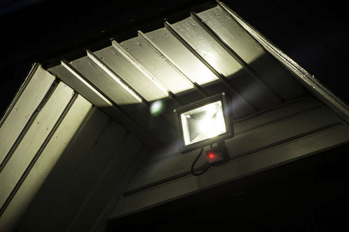 triggered security light