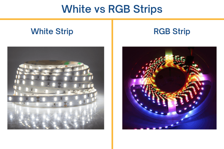 white and rgb strip