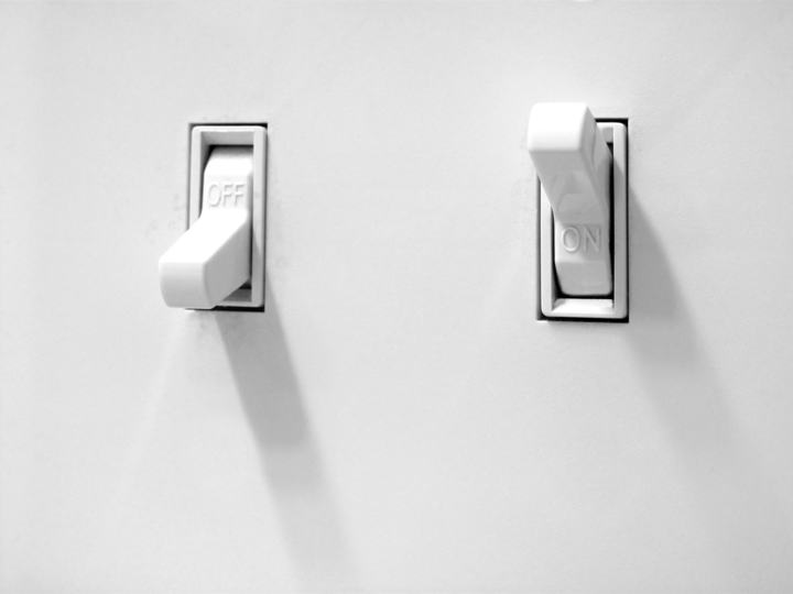 light switches on the wall