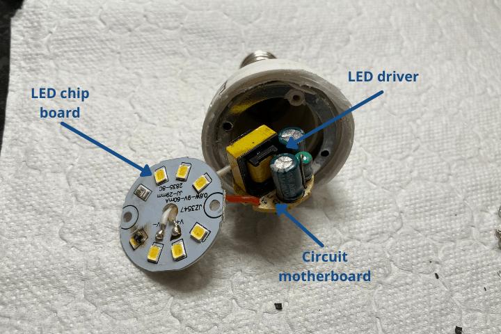 internal bulbs componentst