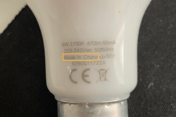 mad ein china bulb sign